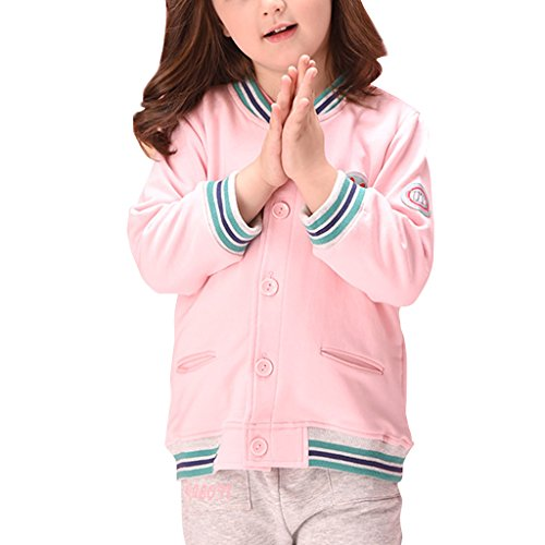 YISUMEI Little Girls Coat Uniforms Jacket Pink 3T (French Uniform Camouflage)