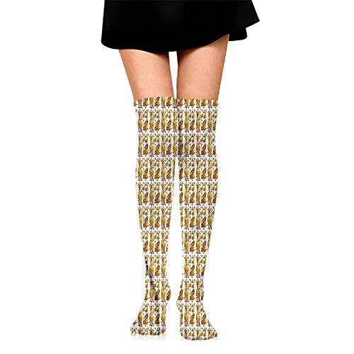 (Hip Hop Street Style Sock Giraffe,Exotic Fauna Wildlife,socks men pack ankle)