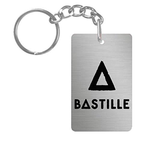 Amazon.com: Bastille # 1 aluminio rectángulo placa llavero ...