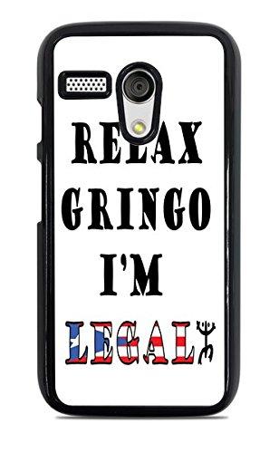 Relax Gringo Im Legal - Carcasa rígida para Moto G1, Color ...