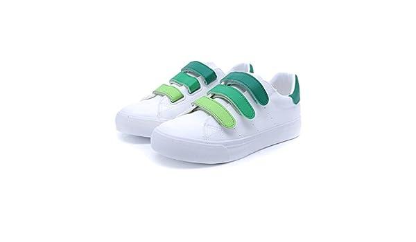 Fashion Velcro Zapatillas de deporte estudiante Casual transpirable zapatos de junta plana zapatos al aire libre zapatillas de running, Verde, 38: Amazon.es: Hogar