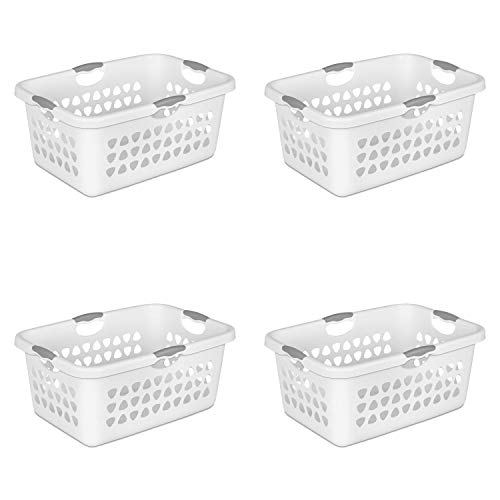 STERILITE 2 Bushel Laundry Basket, White (Available in Case of 4 or Single Unit) ()