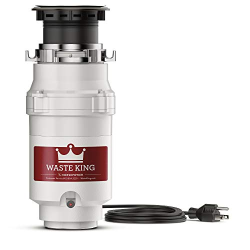 (Waste King L-1001 Garbage Disposal with Power Cord, 1/2 HP)