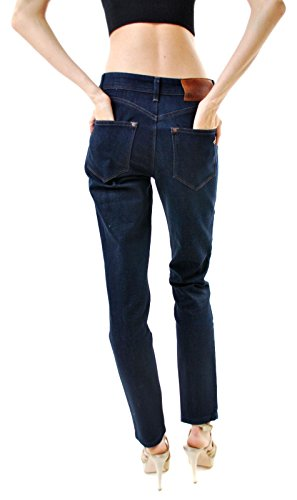 DL1961 Damen Nina Super High Rise Skinny Jeans Blau Dunkelblau WtSZOE