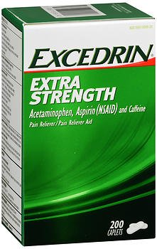 Excedrin Extra Strength Pain Reliever - 200 Caplets, Pack of 6 by Excedrin
