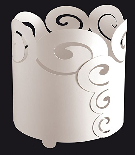 Cache Pot in Eisen Locken groß weiß