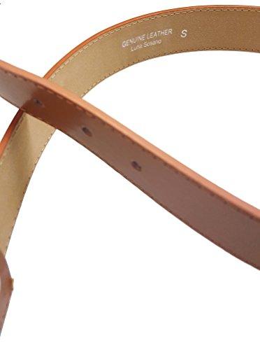 LUNA Premium Basic Genuine Leather Stitching Belt Strap - Black - 3X Large Photo #5