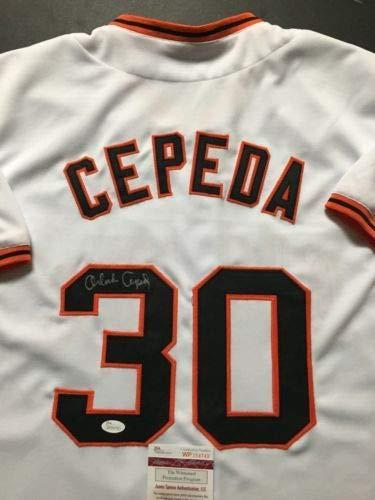 (Autographed/Signed Orlando Cepeda San Francisco White Baseball Jersey JSA COA)
