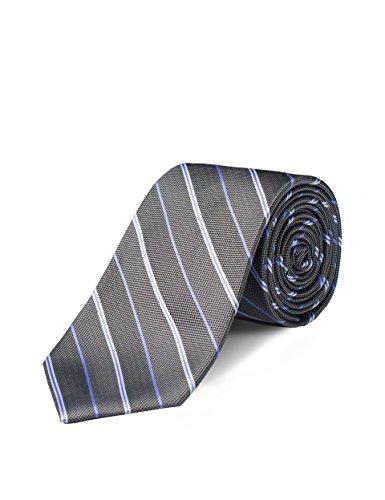 Origin Ties Mens Fashion Grey Regimental Striped Skinny Tie 3