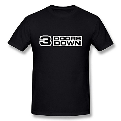 Next Style Men's 3 Doors Down Rock Band Logo Black T-Shirt