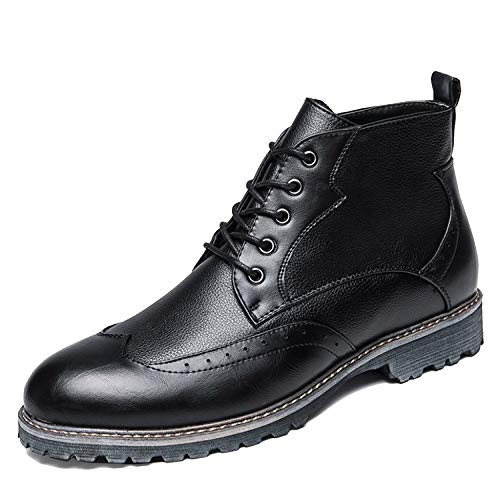 Scarpe Da Lavoro Scarpa Stivaletto Da Formale Vintage Black High Stivaletti Ups In In Top Uomo Pelle Brogue Pizzo Classico Abito Martin qf4Tx