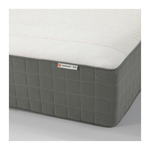 Ikea HAUGSVÄR Spring mattress (twin size), medium firm, dark gray 828.22314.1034