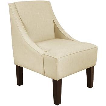 Skyline Furniture Swoop Arm Chair, Chambers Chalk