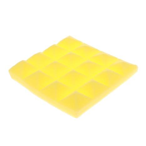 magideal Schall dämmende placas de espuma para aislamiento acústico para piezas de música, amarillo
