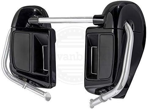 Advanblack Vivid//Glossy Black Rushmore Lower Vented Fairings Kit 6.5 inch Speaker Pods Fit for Harley Touring Street Glide Road King Road Glide 2014-2019 US STOCK