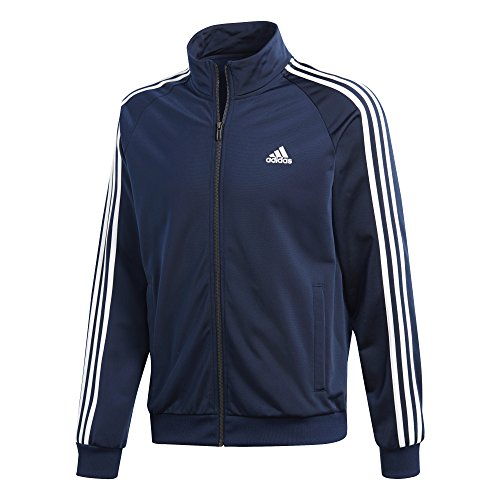 adidas Men's Essentials 3-Stripe Tricot Track Jacket, Collegiate Navy/White, Small by adidas (Image #4)