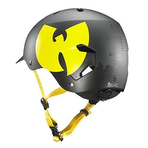 Bern Black Summer Helmet - Bern Unlimited Watts EPS Summer Helmet (Wutang Matte Black, S/M)