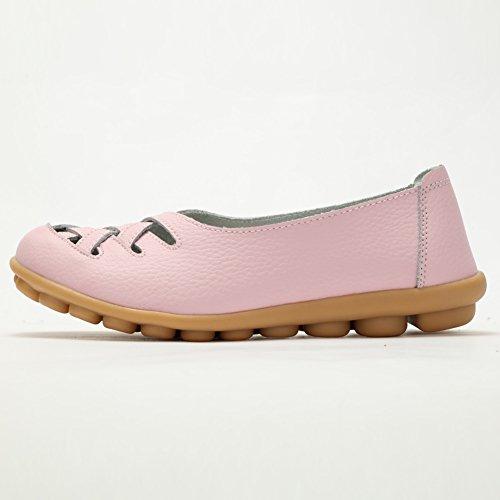 Fereshte Mocassino Da Donna In Vera Pelle Mocassino Casual Scarpe Da Guida Slip-on Pantofole Piatte Rosa