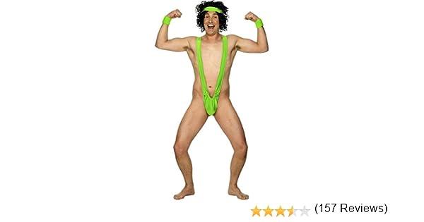 Disfraz monokini estilo Borat bañador hombre carnaval: Amazon.es ...