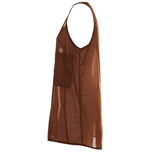 VialeScarpe - Camiseta sin mangas - para mujer marrón