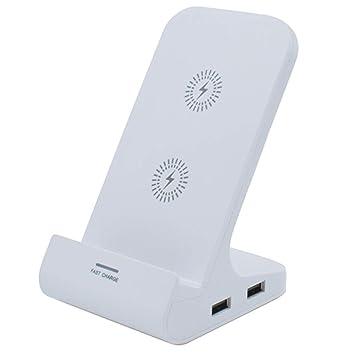 Cargador Inalámbrico Qi Dual USB Wireless Rápida Cargador ...