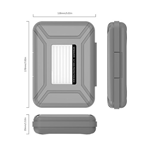 5-Pack Yottamaster 3.5 Inch Portable HDD Case / External Hard Drive Case -Gray by Yottamaster (Image #1)