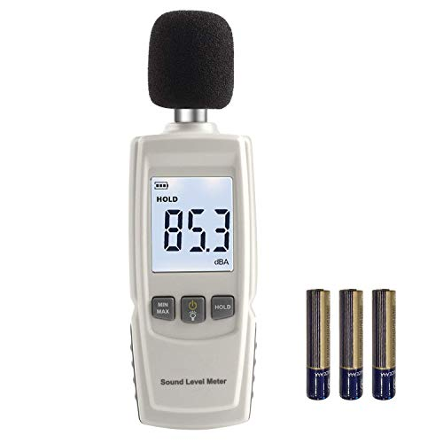 Digital Noise Meter, High-Precision Decibel Tester,Portable Indoor Environment Noise Detector,LCD Backlight/Measuring Data Retention(30~130dBA)