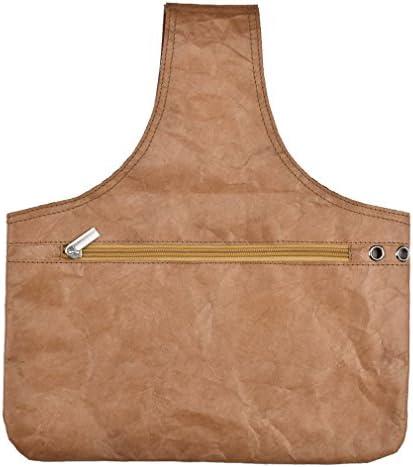 YUEHAO ポータブル 編み針 ニードルフック糸ホルダー 収納ハンドバッグ オーガナイザーバッグトート ブラウン