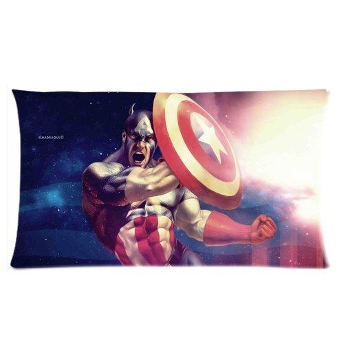 Trendsetter Capitán América Custom Rectángulo con cremallera ...