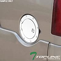 Topline Autopart Chrome Aluminum Gas Door Cover With Lock...