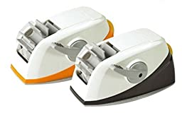 3M Scotch Desktop Twin-Roll Tape Dispenser_One Touch, Automatic Cutting (Black)