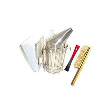 Stainless Steel Smoker Beekeeping Tool Package Red Hive Tool /& Bee Brush