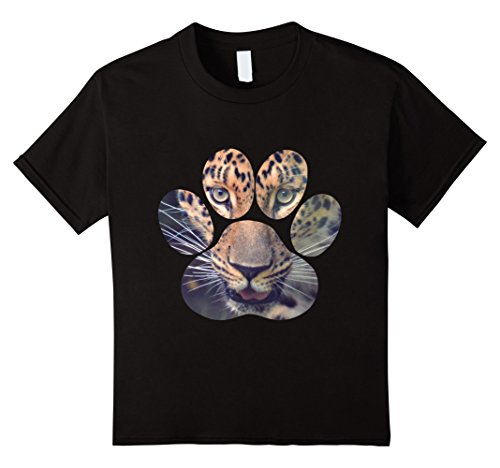 Kids Leopard Eyes Paw Animal Cat Cheetah Lion Tiger Print T-Shirt 4 - Cat Tiger Print