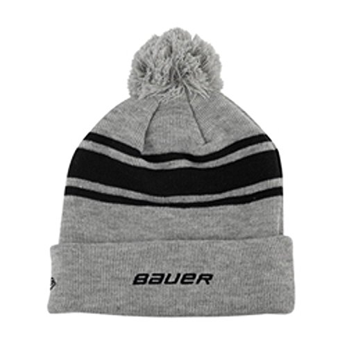 Era Toque New (Bauer New Era Team Striped Pom Pom Knit Hat - Black)