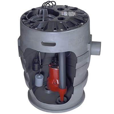 "Liberty Pumps P372LE51 Sewage Pump System, 1/2HP, 115V, 2"" discharge, 21""x30"" basin"