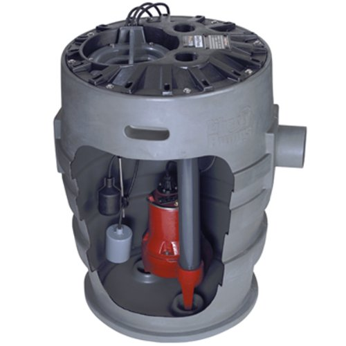 Liberty Pumps P372LE51 Sewage Pump System, 1/2HP, 115V, 2'' discharge, 21''x30'' basin by Liberty Pumps