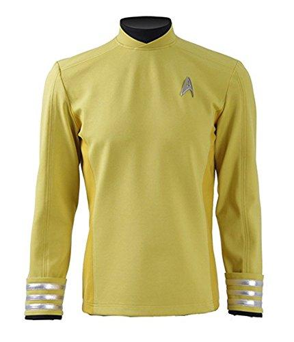 [Fancycosplay Mens Yellow Cosplay Costume Commander Halloween Shirt (Custom made)] (Halloween Costumes Yellow Tshirt)