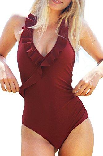 Cupshe Fashion Falbala Padding Swimsuit