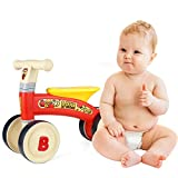 EnterSports Baby Balance Bike - Baby Bicycle for 10-24 Months Baby Walker Toys Safe Riding Toys for 1 Year Old Boy Girl Ideal Toddler Bike Baby's First Bike First Birthday Gift-Red