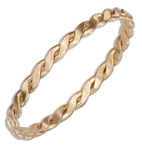 12 Karat Gold Filled Wire Serpentine Band Ring