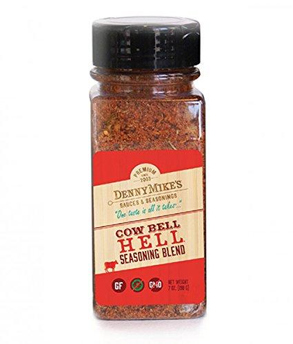 Barbecue Spice Rub - Cow Bell Hell Premium Seasoning Blend - 7oz Shaker -