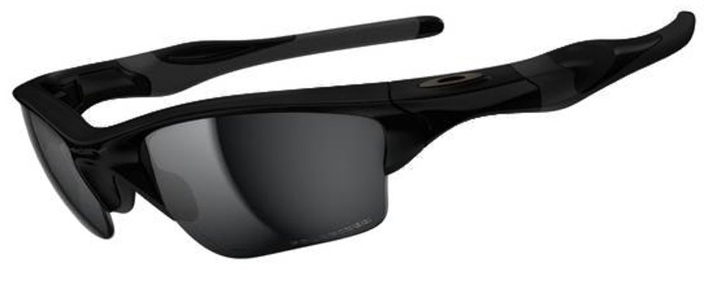 Oakley Men's Half Jacket 2.0 XL Iridium Sport Sunglasses (Matte Black Frame Polarized Black Lens, Matte Black Frame Polarized Black Lens)