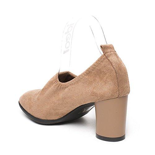 Ideal Shoes, Damen Pumps Taupe