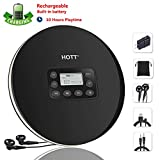 Rechargeable Portable CD Player, CCHKFEI Personal Compact Disc Player with LCD Display,Headphones and USB Charging Cable Compact Walkman with Anti-Scratch Skip Protection Anti-Shock Function