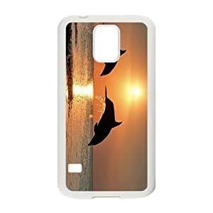 Beautiful Dolphin Love Hight Quality Plastic Case for Samsung Galaxy S5