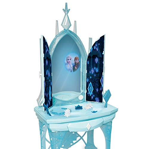 Disney Frozen 2 Elsa's Enchanted Ice Vanity, Includes Lights, Iconic Story Moments & Plays