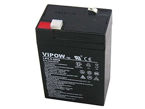 Vipow - Batería de Movilidad 6V 4.5Ah Batería de ciclo profundo de gel. Pila recargable. Acumulador: Amazon.es: Electrónica