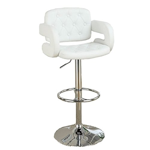 poundex-pu-tufted-back-and-seat-barstool-white