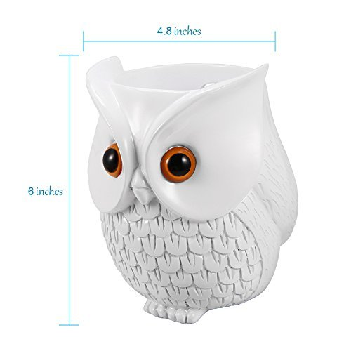 Mounchain Echo Dot Case, Echo Dot Holder BFF For Alexa Owl Statue Crafted Guard Station Creativce for Amazon Echo Dot 2nd and 1st Generation Guard Holder Guard Station Decoration for Smart Home
