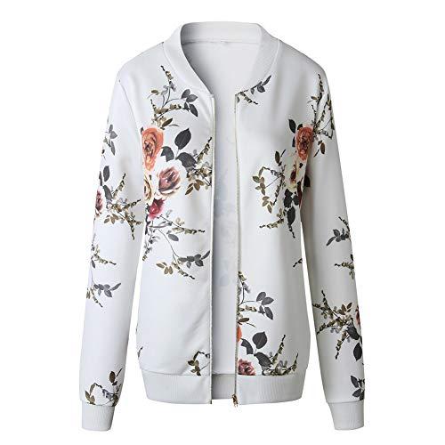 White Cerniera Print Lunga Jacketgiacche Jacket Manica Donna Da Pilot Femminile Suit Autunno Slim Con Top Casual Jjhr Giacche Outwear HPRwwxU